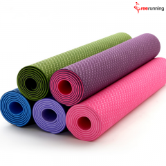 Double Color TPE Pilates Yoga Mat