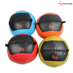 PU Soft Leather Medicine Ball Exercises