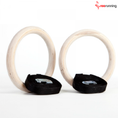 Cross-Training Workouts Gymnastic Wooden Rings
