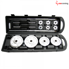 Chrome 50KG Barbell Dumbbell Set