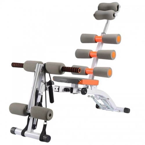 Abdominal Sit-up Trainer Adjustable With Built In Twisting Seat And Rower For Home Or Gym